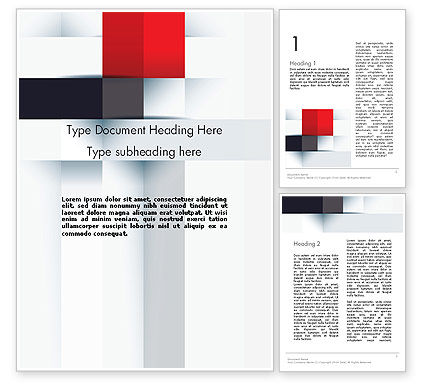Abstract/Textures: Abstract Square Theme Word Template #12705
