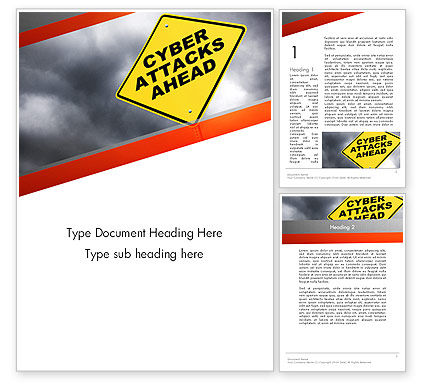 Cyber Attacks Sign Word Template
