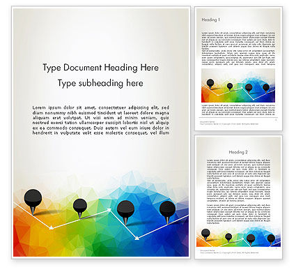 Abstract/Textures: Checkpoints on Colored Background Word Template #12714