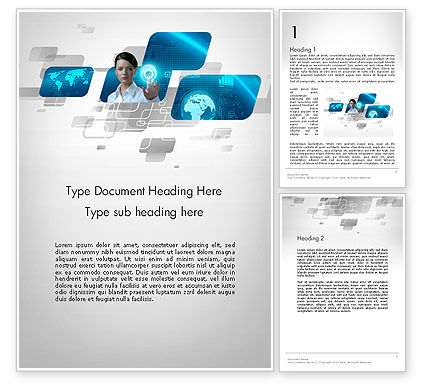 Business: World of Business Word Template #12720