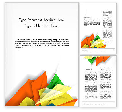 Abstract/Textures: Abstract Origami Style Word Template #12724