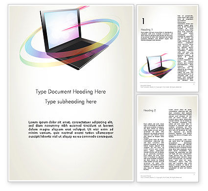 Online Learning Word Template, 12726, Education & Training — PoweredTemplate.com