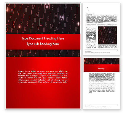 Abstract/Textures: Red Letters on Black Background Word Template #12734