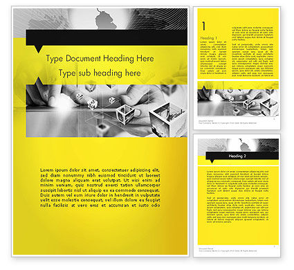 Business: Strict and Creative Business Collage Word Template #12737