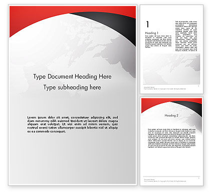 Strict Business Theme with World Map Word Template
