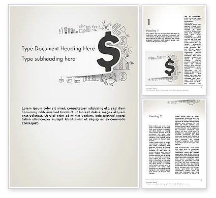 Money Strategies Word Template, 12739, Financial/Accounting — PoweredTemplate.com