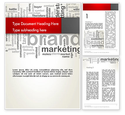 Brand Marketing Word Cloud Word Template, 12740, Careers/Industry — PoweredTemplate.com