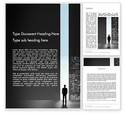 Opportunity Door Word Template, 12743, Business Concepts — PoweredTemplate.com