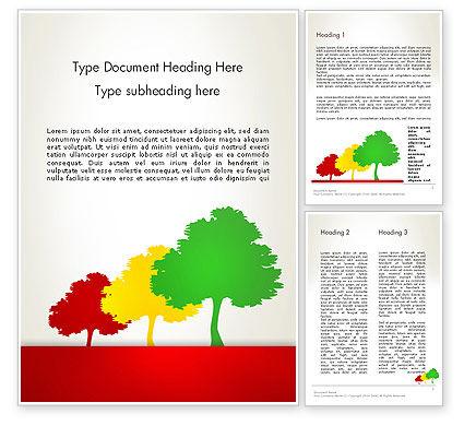 Nature & Environment: Templat Word Tiga Pohon #12745