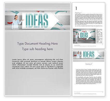 Ideas Presentation Word Template, 12756, Business Concepts — PoweredTemplate.com
