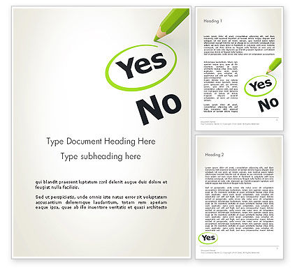 Say Yes Word Template