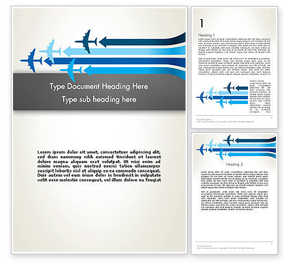 Aerial Transport Word Template, 12759, Cars/Transportation — PoweredTemplate.com