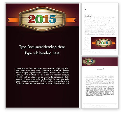 Holiday/Special Occasion: Calendar 2015 Word Template #12763