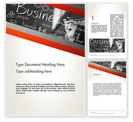 Business Project Concept Word Template, 12765, Business — PoweredTemplate.com