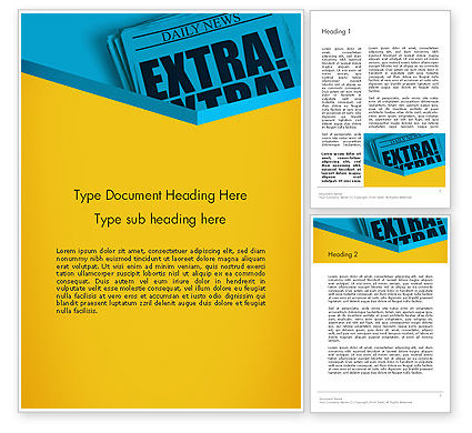 Extra Extra Word Template, 12769, Careers/Industry — PoweredTemplate.com