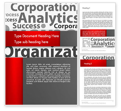 Consulting: Corporation Analytics Word Template #12776