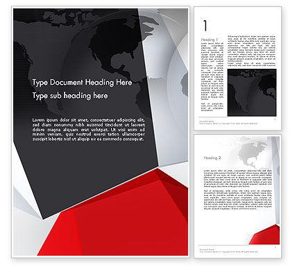 Global: Globe with Geometric Layers Word Template #12777