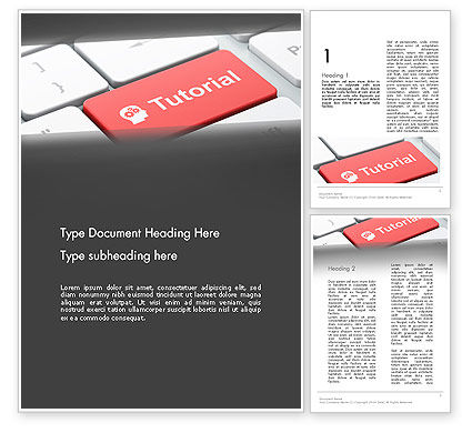 Consulting: Tutorial Button Word Template #12779