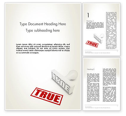 Business Concepts: True Rubber Stamp Word Template #12780