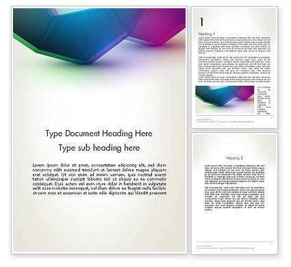 Abstract/Textures: Abstract Objects Word Template #12781