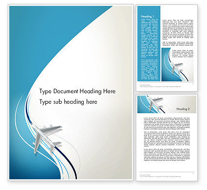 Cars/Transportation: Airplane Theme Word Template #12788