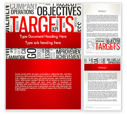 Objectives and Targets Word Cloud Word Template, 12792, Business Concepts — PoweredTemplate.com