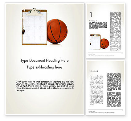 Basketball Coach Word Template, 12801, Sports — PoweredTemplate.com