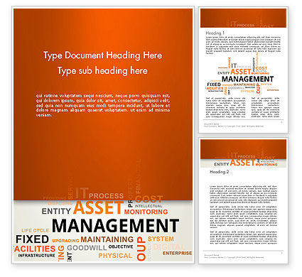 Careers/Industry: Asset Management Word Cloud Word Template #12810