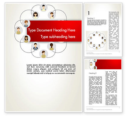 Networking Group Word Template, 12813, Business Concepts — PoweredTemplate.com