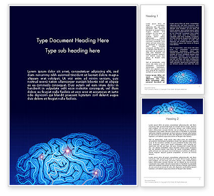 Brain Map Word Template, 12823, Medical — PoweredTemplate.com