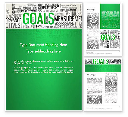 Goals Word Cloud Word Template, 12826, Business Concepts — PoweredTemplate.com