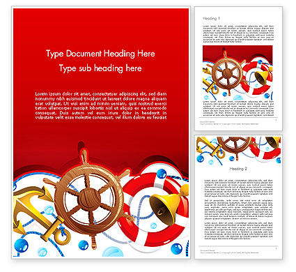 Nautical Word Template