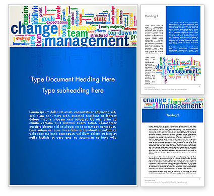 Management Word Cloud Word Template