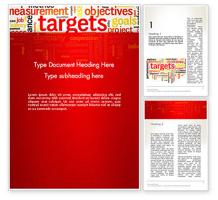 Consulting: Business Targets Word Cloud Word Template #12840