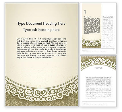 Abstract/Textures: Vintage Pattern Paper Cut Word Template #12842