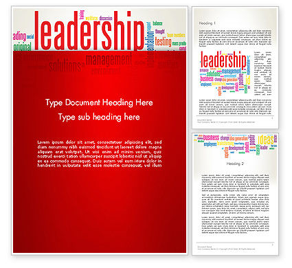 Leadership Management Word Cloud Word Template, 12844, Education & Training — PoweredTemplate.com