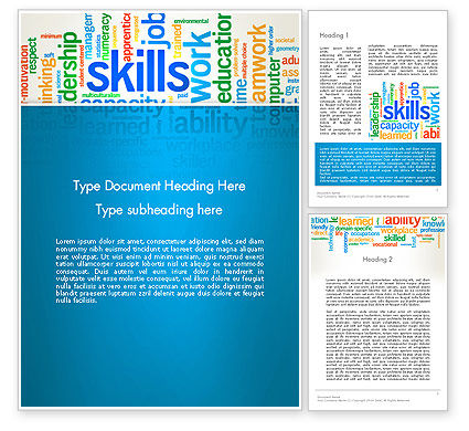 Careers/Industry: Human Resources Word Cloud Word Template #12846