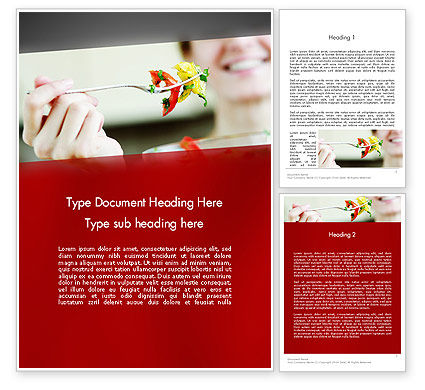 Becoming Vegetarian Word Template, 12860, Food & Beverage — PoweredTemplate.com
