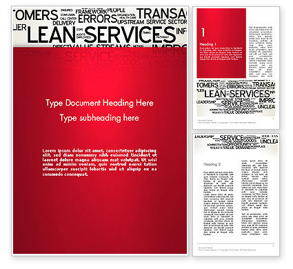 Lean Services Word Cloud Word Template