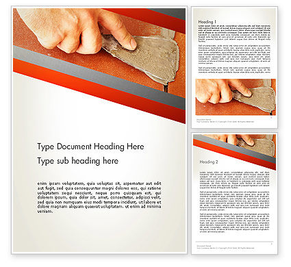 Utilities/Industrial: Putty Joints Word Template #12867
