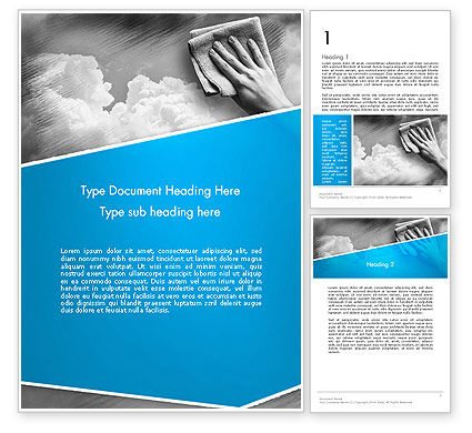 Air Cleaning Concept Word Template, 12871, Nature & Environment — PoweredTemplate.com