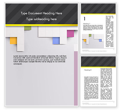 Abstract/Textures: Minimal Geometric Design with Squares Word Template #12882