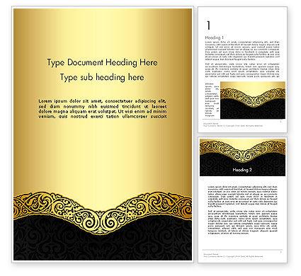 Ornamental Theme Word Template, 12890, Art & Entertainment — PoweredTemplate.com