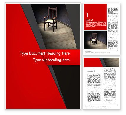 Chair in the Corner Word Template, 12891, Medical — PoweredTemplate.com