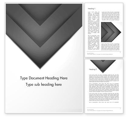 Gray Arrow Concept Word Template, 12896, Business — PoweredTemplate.com