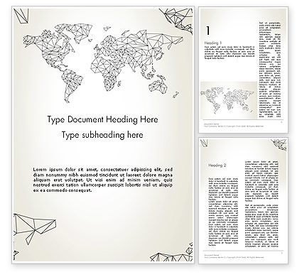 Word Map in Polygonal Design Word Template
