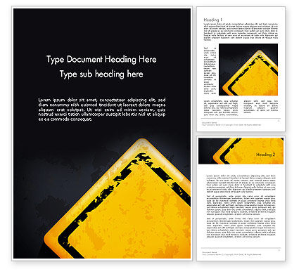 Warning Sign Word Template, 12900, Business Concepts — PoweredTemplate.com