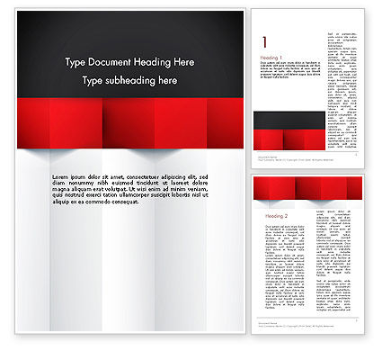 Black Red and White Geometrical Word Template, 12904, Business — PoweredTemplate.com