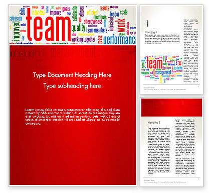 Team Word Cloud Word Template, 12911, Careers/Industry — PoweredTemplate.com