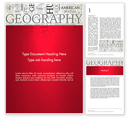 Education & Training: Modelo do Word - geografia nuvem palavra #12921